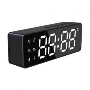 China Wireless Speaker Bluetooth LED Mirror Alarm Clock on sale