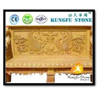 Buy cheap European Style Yellow Natural Marble Garden Bench from wholesalers