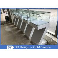 Buy cheap Modern White Wood Countertop Jewelry Display Cases  450 X 450 X 1250MM from wholesalers