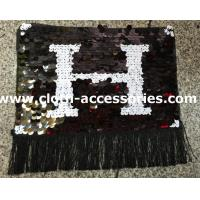 Buy cheap Fringe Shape Sequin Clothing Appliques Embellishments Black And White from wholesalers