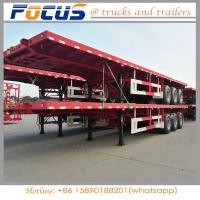 Buy cheap 40FT Container / bulk Cargo Flatbed Truck Semi Trailer with FUWA axle from wholesalers