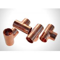 Buy cheap Residential Refrigeration Copper Tubing Pipe Fittings Copper Equal Tee  Easy To Braze from wholesalers