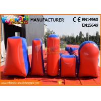 Buy cheap Commercial Inflatable Paintball Bunkers / Adult Inflatable Nerf Arena from wholesalers