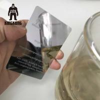 Buy cheap Anti Fingerprint  Mirror Business Cards , Stainless Steel Business Cards 85x54mm from wholesalers