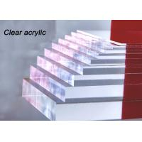 Buy cheap Indoor / Outdoor Clear Acrylic Sheet 80% - 90% Light Transparency For Engraving Letters from wholesalers