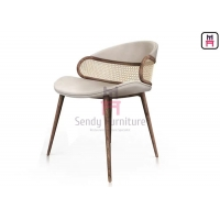 Buy cheap Rattan Canework Backrest Upholstered Dining Chair 0.38cbm product