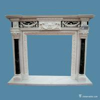 Buy cheap Multicolor Marble Fireplace Surround , Decorative Stone Marble Around Fireplace from wholesalers