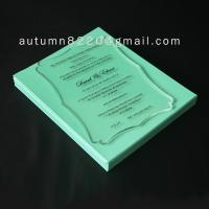 Buy cheap B IC (3) romantic clear acrylic invitation product
