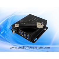 Buy cheap 4Port compact USB3.0 over dual or single fiber extender to 250M for USB printer  USB camera and USB Mouse and keyboard from wholesalers