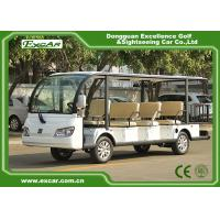 Buy cheap EXCAR white 11 Seater 72V Electric Sightseeing Bus With Storage Basket from wholesalers
