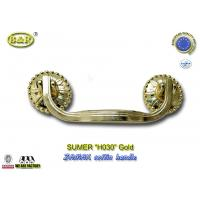 Buy cheap Burial Metal Casket Handle,H030 zamak coffin handle  Funeral Accessories and Hardware gold color size:19*7.5cm from wholesalers