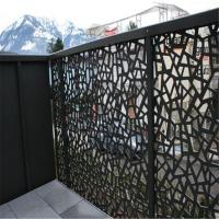 Buy cheap Outdoor Laser Cut Decorative MS Balcony Railing or aluminum garden screen from wholesalers