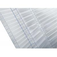 Buy cheap Triple Wall Clear Polycarbonate Sheet  Flat Roof Panels 14mm Thickness High Light Transmission from wholesalers