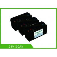 Buy cheap 100AH 24V Deep Cycle Lithium Battery , UPS Rechargeable Lifepo4 Battery Bluetooth Communication from wholesalers