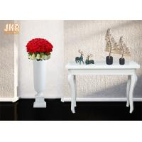 Buy cheap Matte White Floor Vases Homewares Decorative Items Trumpet Fiberglass Table Vases from wholesalers