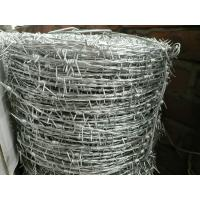 Buy cheap PVC Coated Prison Galvanized Barbed Wire Fencing , Metal Safety Fence from wholesalers