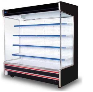 China Multi Layer Shelves Supermarket Glass Door Freezer Good Temperature Evenness on sale