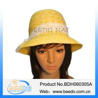 Buy cheap Fashion women wide brim summer beach sun straw cloche hat from wholesalers