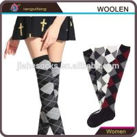 Buy cheap Design Custom Knee High Wool Socks For Girl from wholesalers