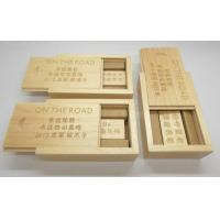 Buy cheap Free Logo Custom Bamboo Flash Memory USB Stick With Gift Box from wholesalers