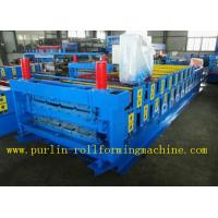 Buy cheap Roof Panel Glazed Tile Roll Forming Machine With 18 Forming Stations 0.3mm - 0.7mm product