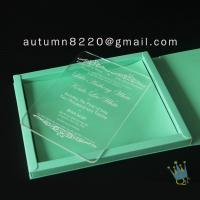 Buy cheap good quality wedding invitation sleeves from wholesalers