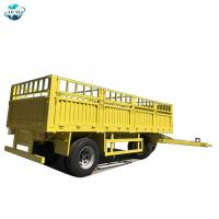 Buy cheap LUYI 2 Axles 30 Ton Flatbed Side Wall Dolly Drawbar Full Trailer for sale from wholesalers