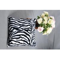 Buy cheap Customized Knitted stripe design faux fur cushion pillow for Travel , home , Hotel from wholesalers