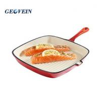 Buy cheap Wholesale Cast iron square enamel grill pan from wholesalers