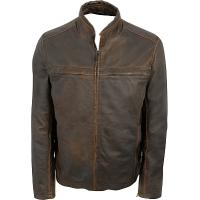 Buy cheap Men's hooded black leather jacket from wholesalers