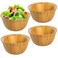 Buy cheap Eco-Friendly 6inch  Bamboo Salad Bowl Set For Food Storage Display Mixing Bowls from wholesalers