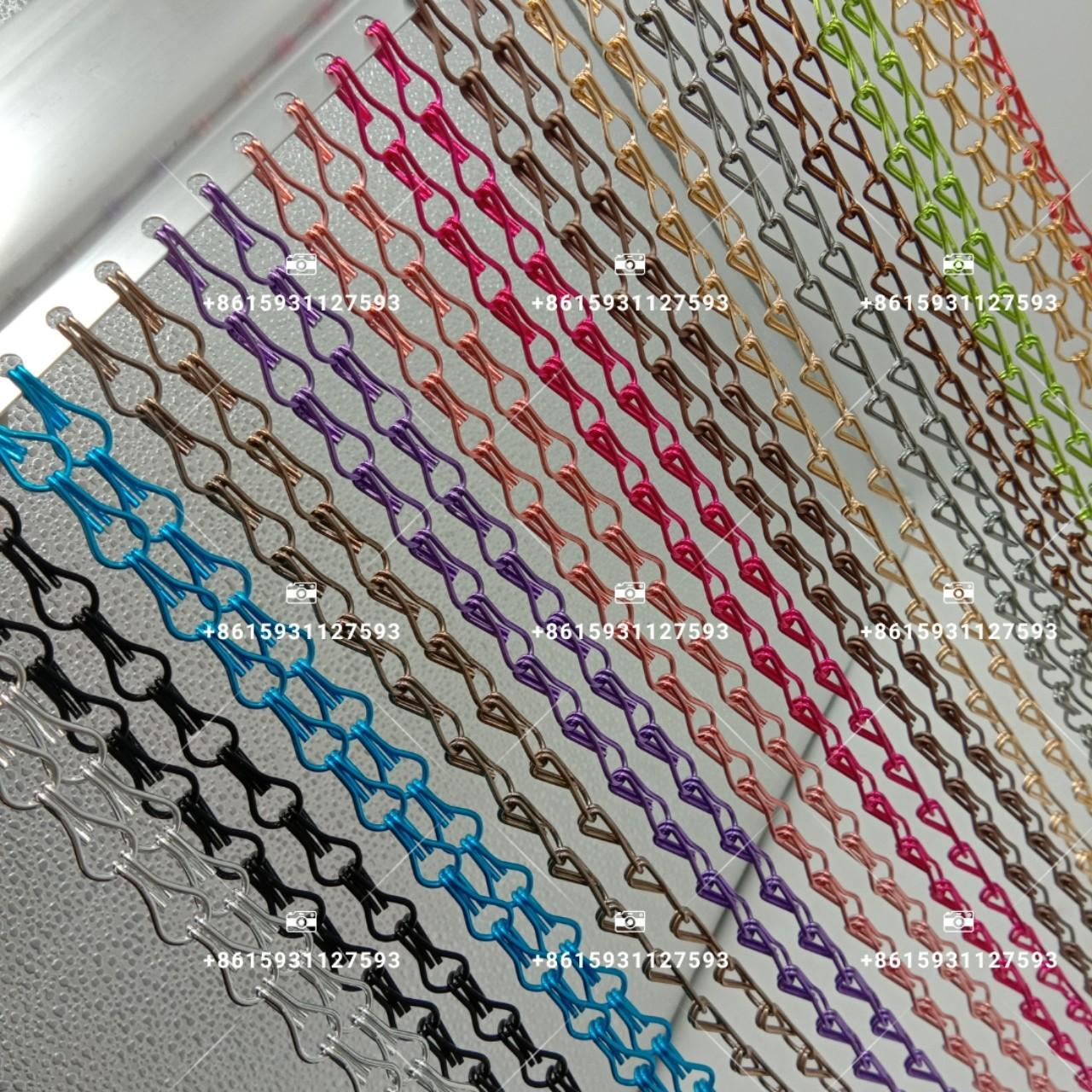Buy cheap Colorful double hook aluminum chain link curtain Insects proof anodized wire screen from wholesalers