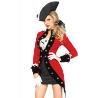 Buy cheap Military Red Coat Womens Sexy Costumes  Halloween Party Dress from wholesalers