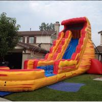 Buy cheap Red Amazing PVC Tarpaulin Inflatable Water Slides Backyard Use from wholesalers