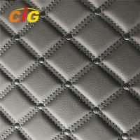 Embroidery PVC leather with Foam with Non-woven for Car Seat for Car floor