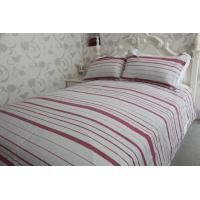 Buy cheap horizontal stripe   red&white polycotton or full cotton duvet cover sets ---color  woven cloth from wholesalers