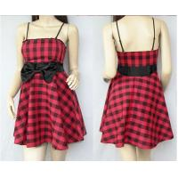 Buy cheap Sexy Girl Cocktail Party Casual Bridesmaid Mini Grid Summer Semi Formal Dresses from wholesalers