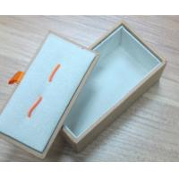 Buy cheap Plastic Cufflink Boxes with two elastic string product