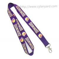 Buy cheap Promotional neck lanyards with metal clasp hook, China lanyard factory for custom lanyards from wholesalers