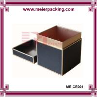 Buy cheap black rectangle custom packaging cardboard paper gift set candle box ME-CE001 from wholesalers