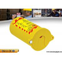 Buy cheap PP Material Lock Out Tag Out , Yellow Pneumatic Gas Cylinder Lockout Tagout from wholesalers