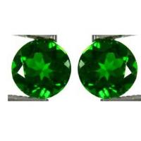 Buy cheap 0.0065 Carats 1mm Chrome Diopside Gemstones Green Normal Faceted Cut from wholesalers