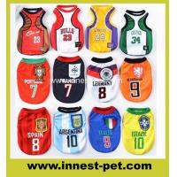 Buy cheap sports football basketball team dogs apparel pet clothes 100% polyester colorful cute dog Tshirt from wholesalers