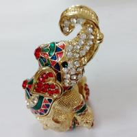 Buy cheap Elephant Trinket Box metal jewelry box from wholesalers