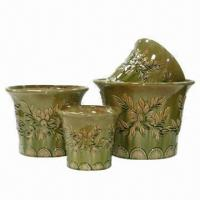 Buy cheap Ceramic Flower Pots/Planters, Customized Designs Welcomed from wholesalers