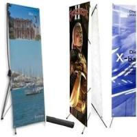 Buy cheap Custom size 180g PP paper, 220g glossy photo paper tradeshow banner indoor  display stands from wholesalers
