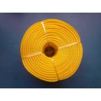 Buy cheap 3 Strand High Strength PP Monofilament Twisted Rope For Packing , Yellow Color product
