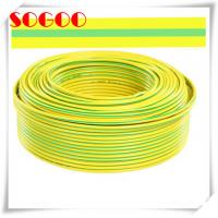 Quality 12 Awg Dia Bare Copper Ground Wire Cable 16mm2 10mm2 Green Yellow Color for sale