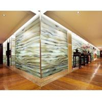Buy cheap Off-White Laminated Decorative Glass Panels For Hotel , Marble Texture Glass from wholesalers
