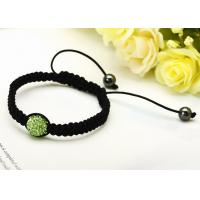 """Buy cheap Hand crafted shamballa bead bracelet crystal jewelry 3.15 """"diameter for women from wholesalers"""